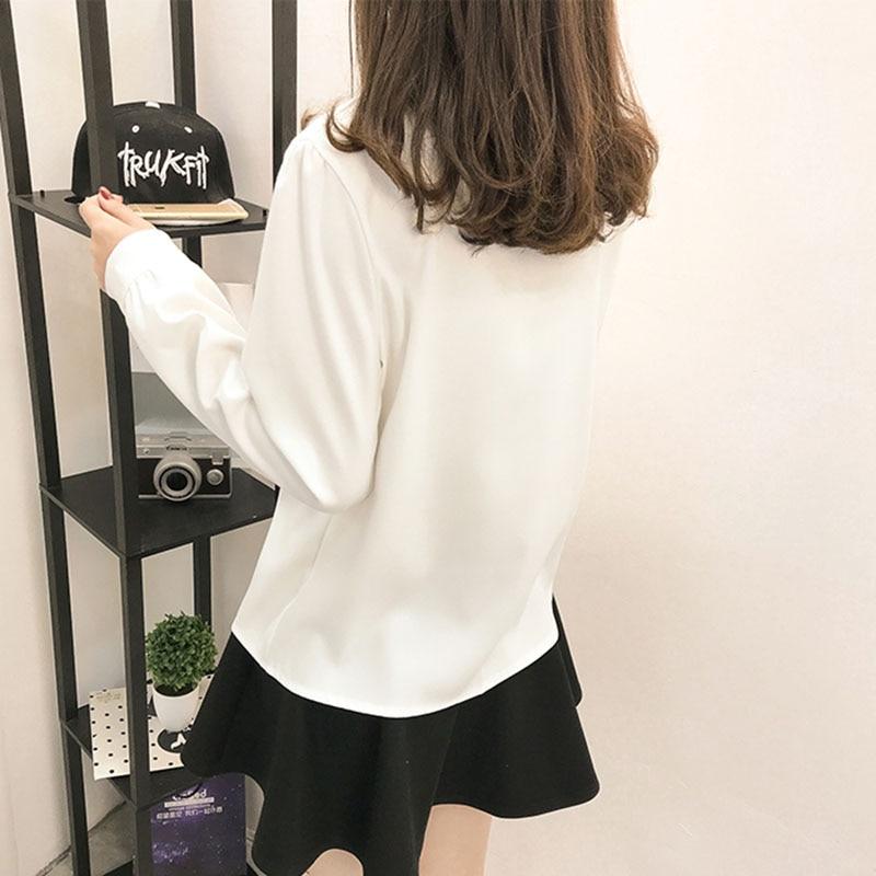 pink Mujer Elegante Blusa Otoño white Europa Para Blusas Tops Mujeres 2018 Puff Collar Soporte Camisa Manga Gray Encaje Señoras Gasa qWdgWU6Fnw