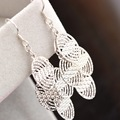 court jewelry wholesale authentic 925 Sterling Silver Earrings Korean fashion long tassel exaggerated Silver Earrings