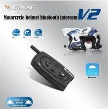 VNETPHONE Helmet Headset Bluetooth Motorcycle Intercom for Motorcycle Wireless Intercom Headset Waterproof 500M Support 2 Riders недорого