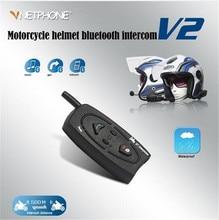 VNETPHONE Helmet Headset Bluetooth Motorcycle Intercom for Motorcycle Wireless Intercom Headset Waterproof 500M Support 2 Riders