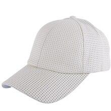 Buena calidad cuero hombres mujeres gorra de béisbol marca marrón negro color  sólido transpirable sombrero de 621c89383d8