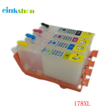 einkshop 178XL Refillable Ink Cartridge Replacement for hp 178 XL 178XL Photosmart 5510 5520 5515 6510 7510 B109a B109n Printer цена 2017