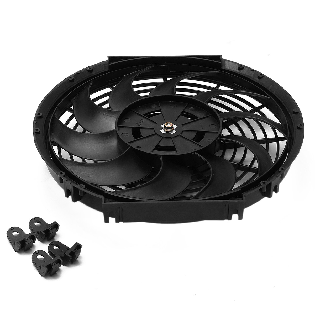 9 inch 10 inch 12 inch 12V 80W Electric Radiator Intercooler Engine Radiator Oil Cooler Cooling Fan Push Pull for Universal Car