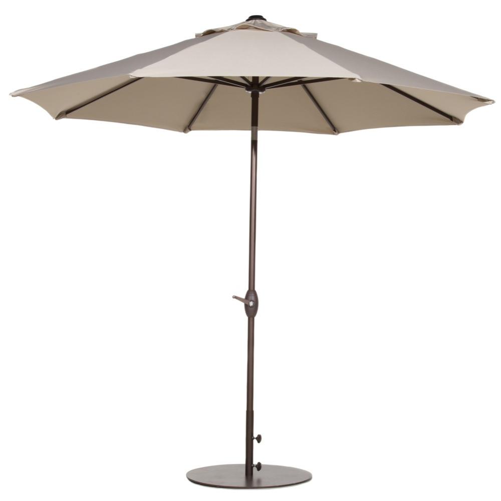 Abba Patio 9 Ft Outdoor Table Aluminum Patio Umbrella with Auto Tilt and Crank Alu. 8 Ribs Beige abba patio 7 1 2 feet fiberglass rib beach patio aluminum umbrella with 2 sand anchors and push button tilt pacific blue