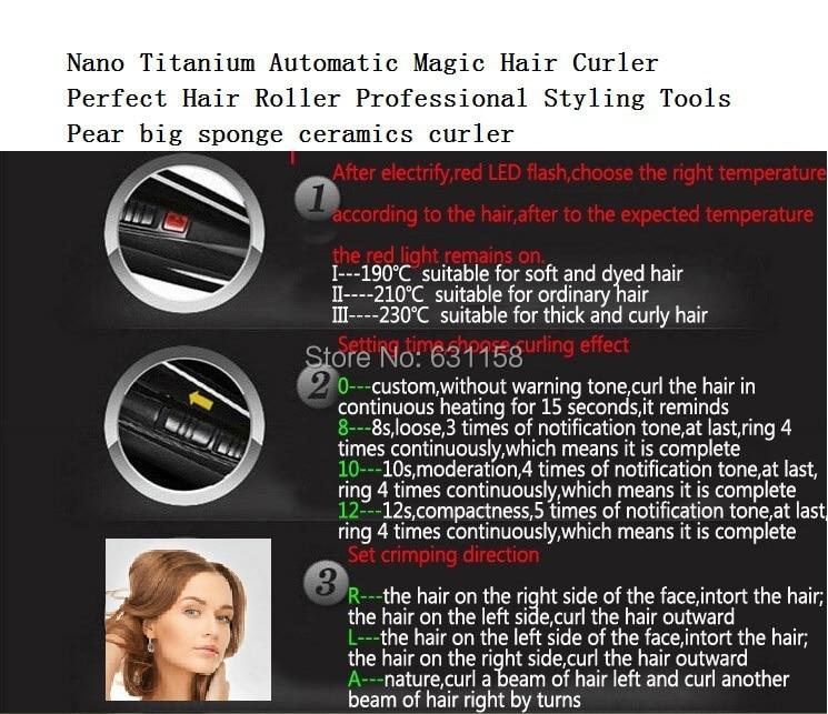 Offre spéciale Nano titane automatique magique parfaite cheveux outils de coiffure professionnels poire grande éponge céramique bigoudi livraison gratuite