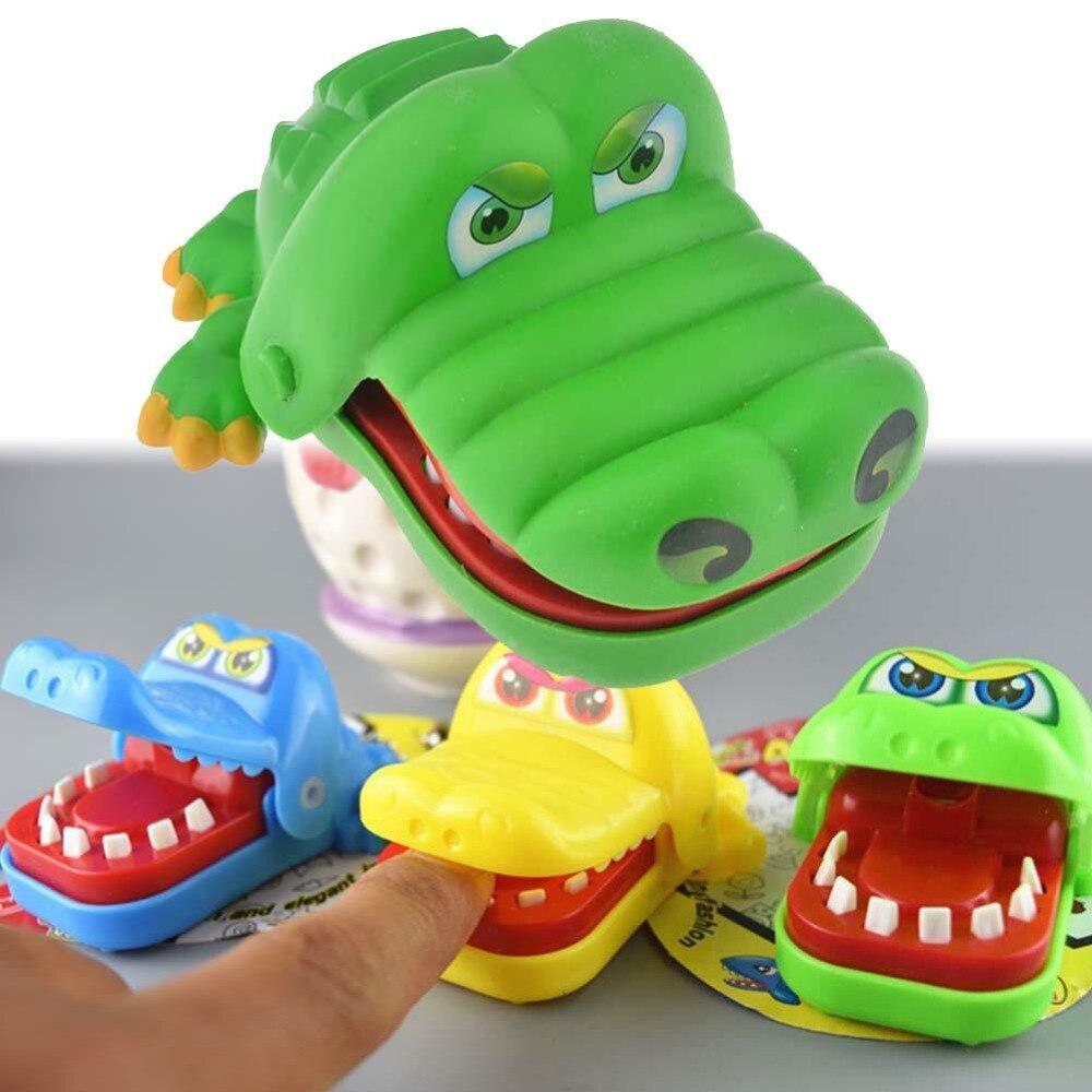 2019 Hot Crocodile Jokes Mouth Dentist Bite Finger Game Joke Fun Funny Crocodile Toy Antistress Gift Child Family Random Color