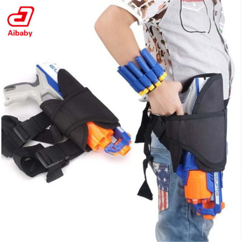 Toys Gun Bullets Soft Darts Tactical Target Pocket Leg Bag For Nerf N-Strike Elite Ammo Holder Bag Bullets Storage Bag