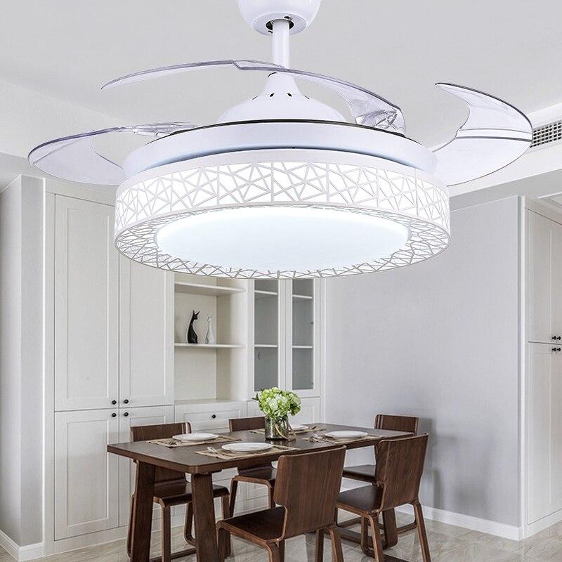 Ventilateur de plafond blanc pour salon chambre cuisine ventilador ...