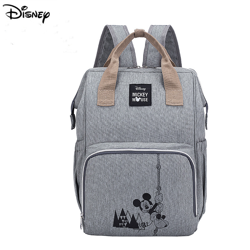 Disney Minnie Mickey Mouse Mummy Maternity Diaper Bags Backpack Larger Capacity Backpack Nappay Baby Bag Travel For Baby Care