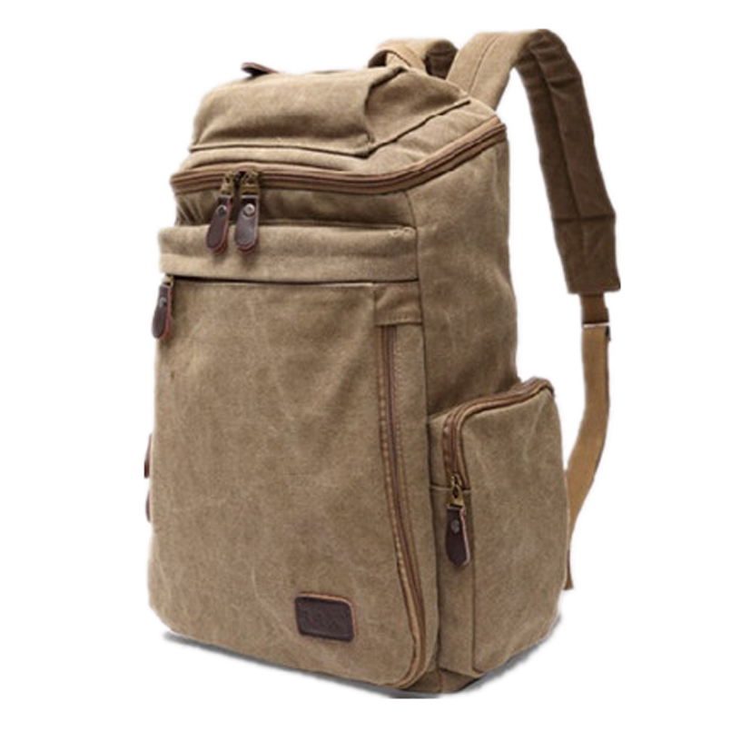 ФОТО New Sale male casual canvas backpack middle school students school bag men travel bag large capacity backpack bags