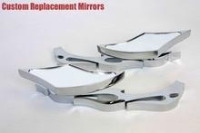 motorcycle parts Alloy TWIST DIAMOND Custom Mirror  Ninja All year model CHROME
