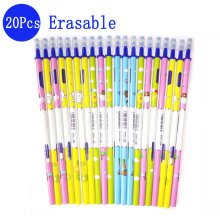 0.5mm Erasable Pen Refill 20Pcs/Set Gel Pen Rod Magic Erasable Pen Blue/Black Ink Office School Stationery Writing Tool Gift 0 5mm erasable pen refill 20pcs set gel pen rod magic erasable pen blue black ink office school stationery writing tool gift