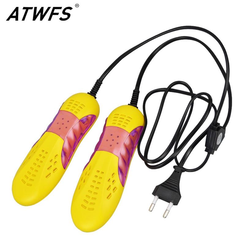 Atwfs Портативный 220 В Сушилки для обуви ультрафиолетового обуви Стерилизатор автомобиля Форма voilet свет Обогреватель Сушилка для Обувь ботинок|dryer handle|heater assemblydryer professional | АлиЭкспресс