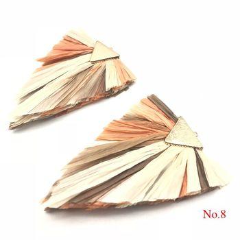 514a0ec4841d Bohoever 2 unids bolsa borlas de rafia borlas joyas accesorios hierba borla  pendiente resultados hecho a mano joyería pendientes