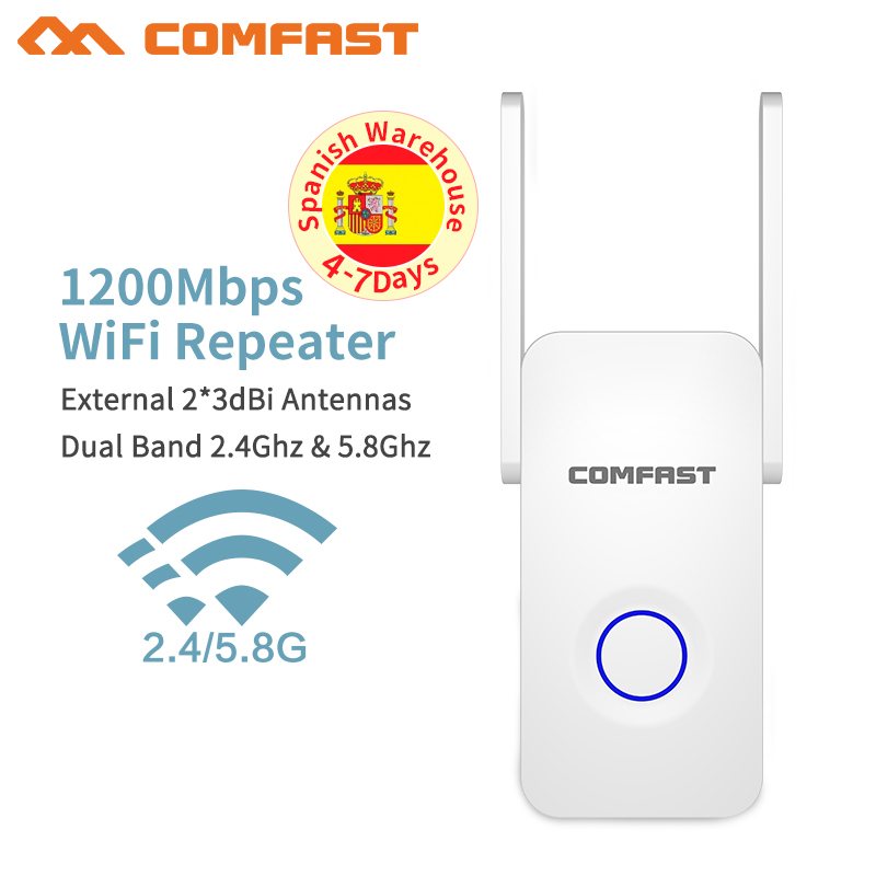 1200Mbps Comfast Dual Band 2.4+5 ghz Wireless Wifi Router High Power Wifi Repeater Wifi Extender Long Range Wlan Wi-fi amplifier image