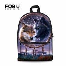 Forudesigns/Повседневные туристические рюкзаки для мужчин и женщин 3D волк животных плеча ежедневно рюкзак школьные сумки Mochilas infatil рюкзак
