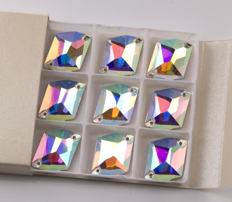 Image 2 - YANRUO 3265 todos los tamaños AB cósmico piedras para coser cristal plano costura strass para la decoración del vestido-in Diamante de imitación from Hogar y Mascotas on AliExpress
