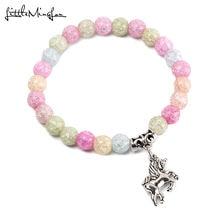 Маленький minglou модный браслет из натурального камня с красочными
