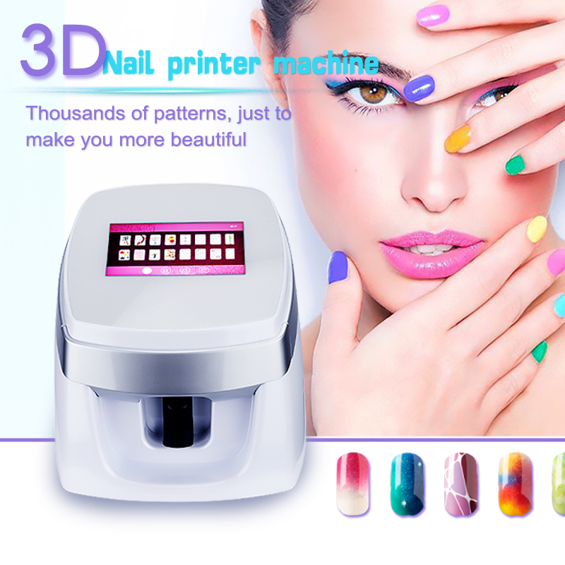 Newest Digital Nail Machine Art Flower Printer 3D Automatic Nail Printer With Cheap Price diy nail art printer machine with 5 metal design templates retail sales free drop shipping