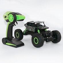 2.4 ГГц RC автомобиль 4WD рок сканеры ралли восхождение автомобиль 1:18 двойные двигатели Bigfoot автомобиль дистанционного Управление модель с открытыми внедорожник игрушка