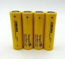 Tangsfire 4PCS 18650 IMR li-ion 20a 3.7V 3500mAh high drain rechargeable battery for Electronic Cigarette Flat Top 4pcs стоимость