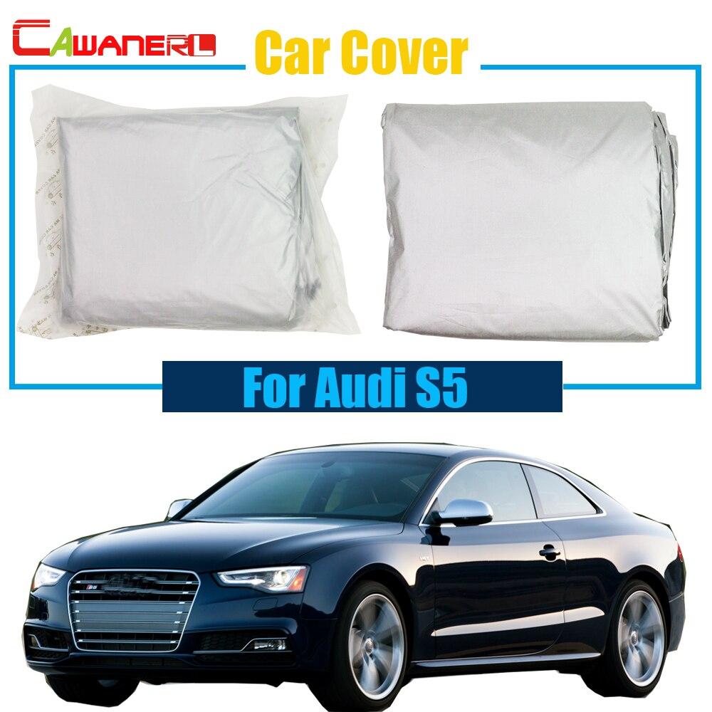 Cawanerl Voiture En Plein Air Anti UV Sun Pluie Neige Résistant Pare-Soleil  De Voiture Couverture Antipoussière Pour Audi S5 f8bb2158ab26