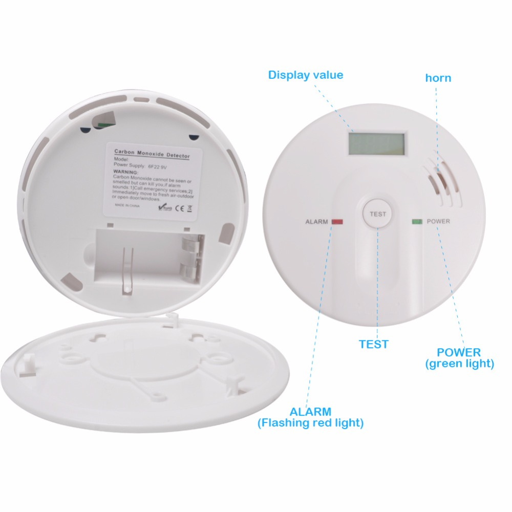 Free shipping Home Safety Warnings Carbon Monoxide Alarm Carbon Monoxide Detector CO Alarm Detector