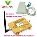 Alta Calidad GSM 3G de Doble Banda Repetidor de Señal GSM 900 mhz WCDMA 2100 mhz 65dBi GSM UMTS 3G Amplificador de Señal de Antena Panel Kits Completos