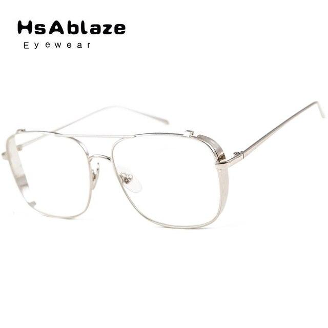 afd977b8d5f HsAblaze Eyewear Optical Myopia Clear Lens Women Men Glasses Frame Female  Hipster Vintage Spectacle Frame Big Eyeglasses