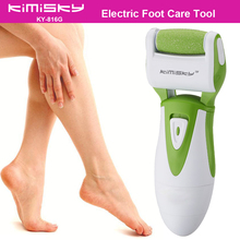 Green smooth strong electric pedicure tool Foot Care Cleansing Exfoliating Foot Care Tool +1ps For scholls function roller heads