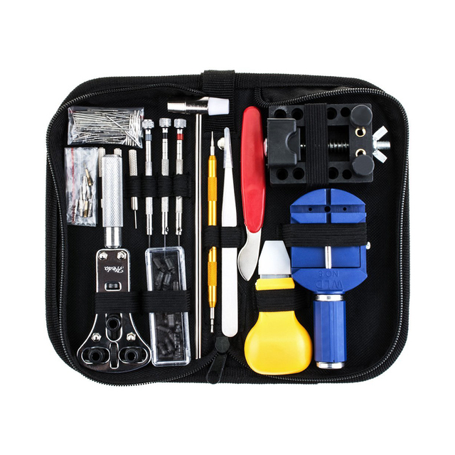 147PCS Professional Watch Repair Tool Kit Case Opener Remover Screwdriver Spring