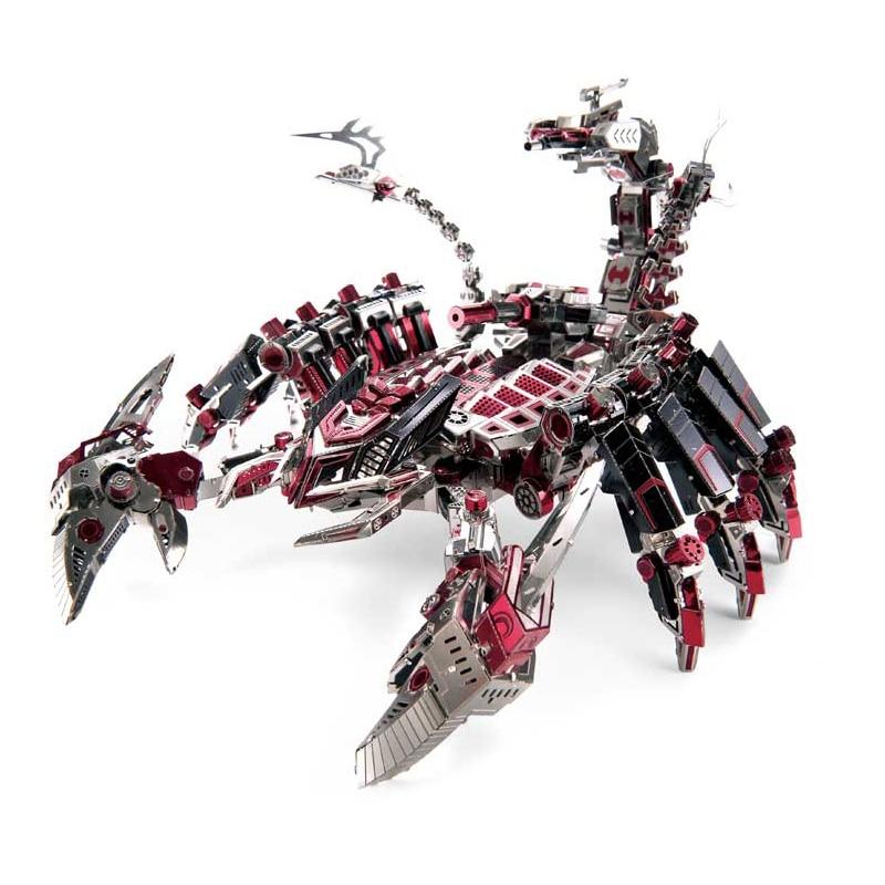 Microworld Diables Rouges Scorpion 3D Métal Puzzle BRICOLAGE Assembler Modèle Kits Laser Cut Jigsaw Jouets D003
