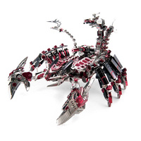 Microworld Red Devils Scorpion 3D Metal Puzzle DIY Assemble Model Kits Laser Cut Jigsaw Toys D003