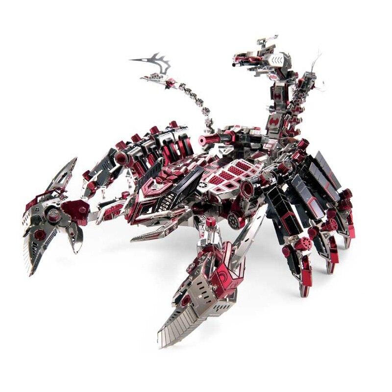 Microworld Red Devils Scorpion 3D Metal puzle DIY ensamblar modelo Kits corte láser rompecabezas juguetes D003-in Kits de construcción de maquetas from Juguetes y pasatiempos    1