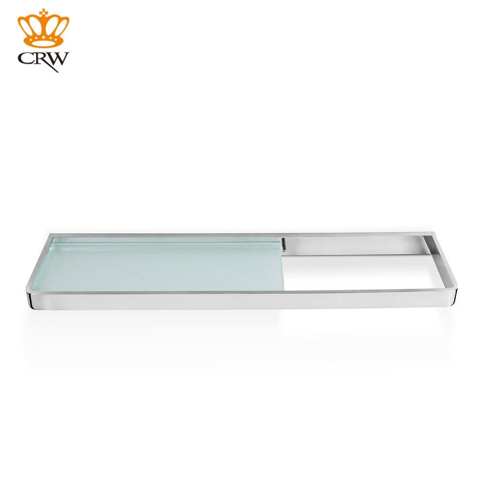 CRW Bathroom Shelf Wall Mounted Brass + Glass Shelf /Towel Shower ...