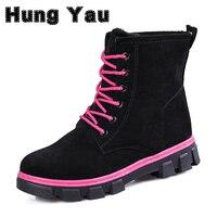 Hung Yau Warm Snow Boots Calzado Mujer Winter Boots Women Sapato Feminino Boots Women Ankle Boots