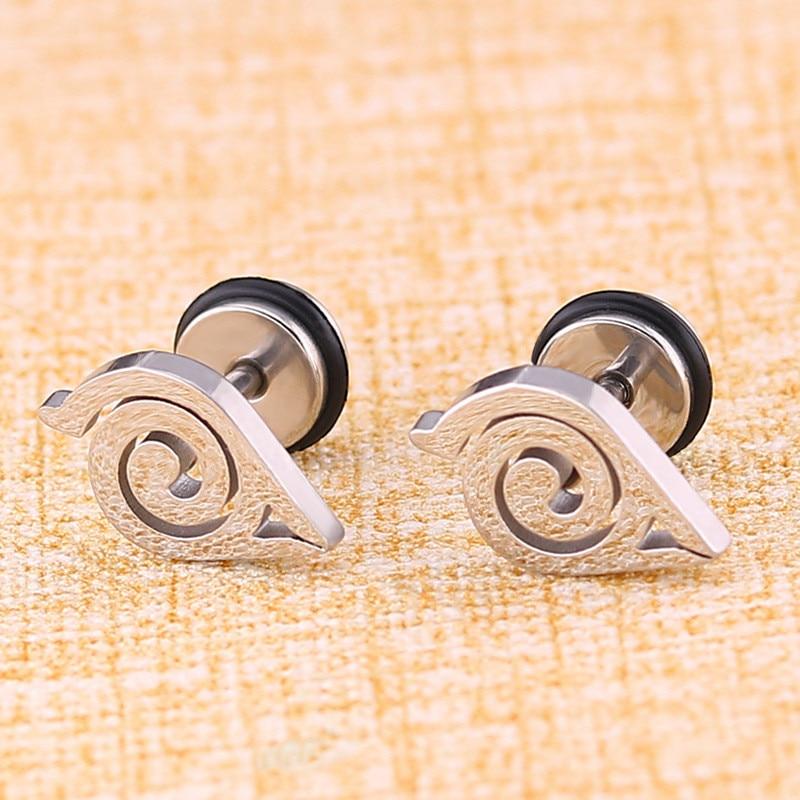 High Grade Stainless steel Stud Earrings Naruto Anime For Women Girls Fashion Geometric Ear Jewelry Birthday Gifts(China)