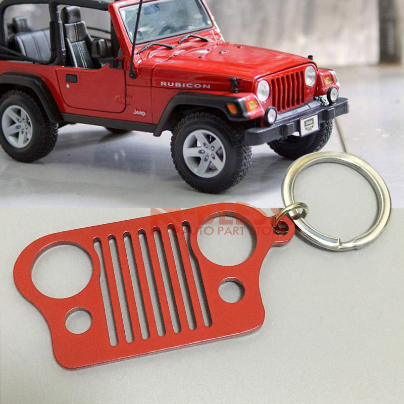 Jeep Gold Teardrop Jeep/® Grille Logo Keychain Purple