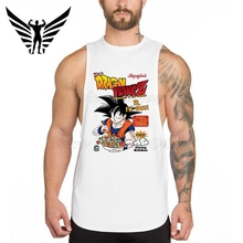 Muscleguys Brand New DRAGON FLAKE Z Men's Bodybuilding Stringer Tank Top Funny Goku Gyms Singlets Fitness super saiyan Clothing