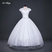 Белое или красное Дешевое кружевное свадебное платье Свадебные платья «Принцесса» на шнуровке Модное бальное платье Vestidos De Novia HS587