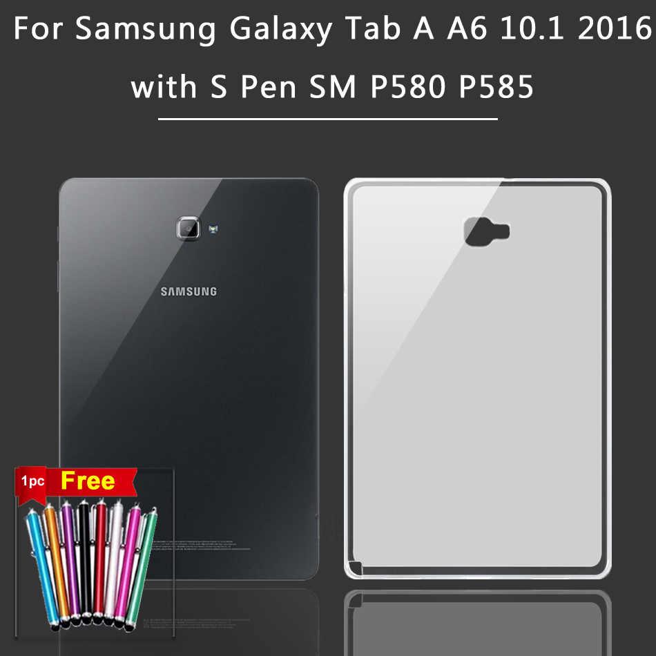 Soft Case untuk Samsung Galaxy Tab 2 3 7/Tab A2 A6 8.0 9.7 10.1 10.5 2016 2019 SM P580 T580 GT P5200 P5100 P3100 Silicone Cover