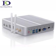 DHL Бесплатная безвентиляторный Мини-ПК Core i3 5005U i5 4200U с USB3.0 VGA HDMI LAN Окна 10 OS HTPC NC240