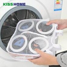 2pcs Clean Portable Washing Bags Storage Organizer Mesh Laundry Shoes Wash Bag Dry Shoe Home Supplies