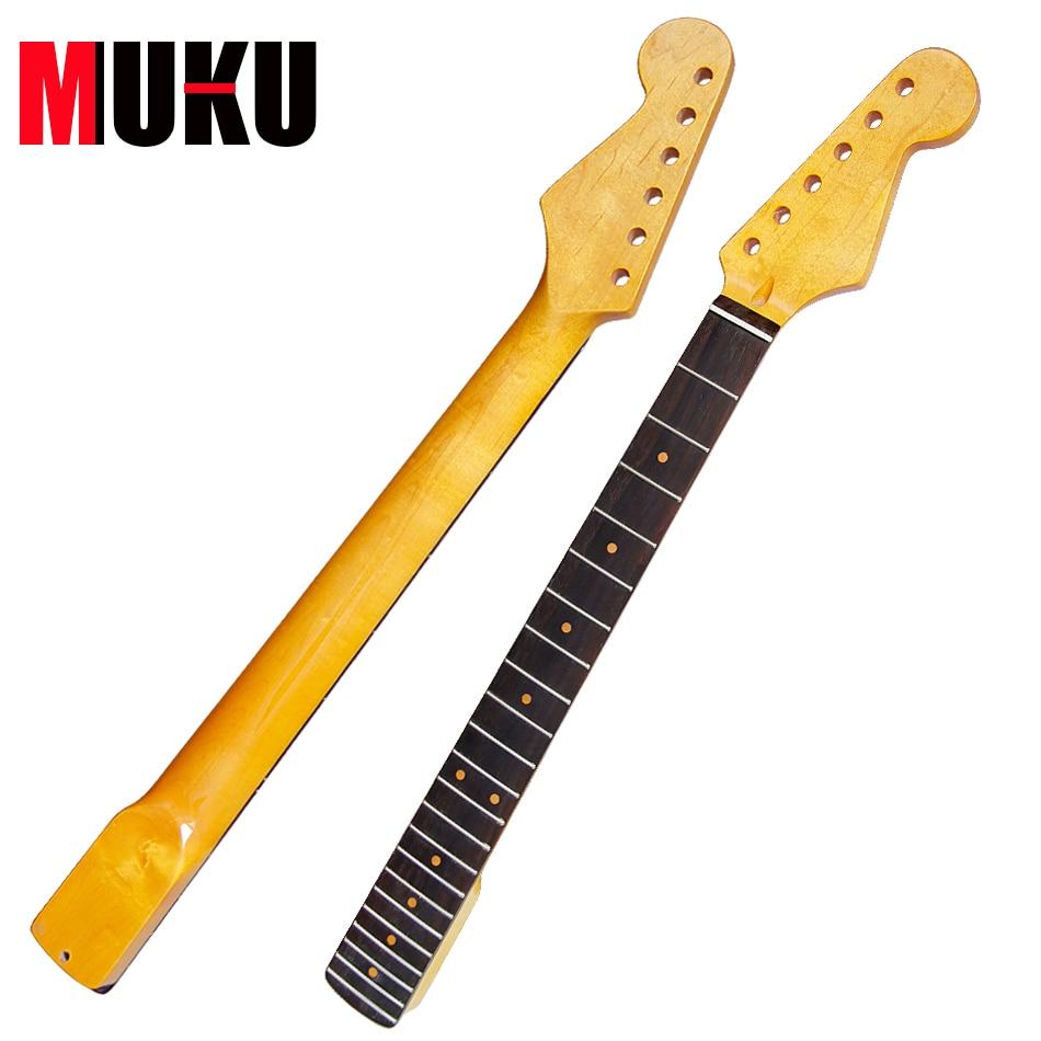 Electric Guitar Neck 22 FRET rosewood fingerboard guitar parts acoustic guitar neck fingerboard fretboard for guitar parts replacement rosewood zebrawood veneer