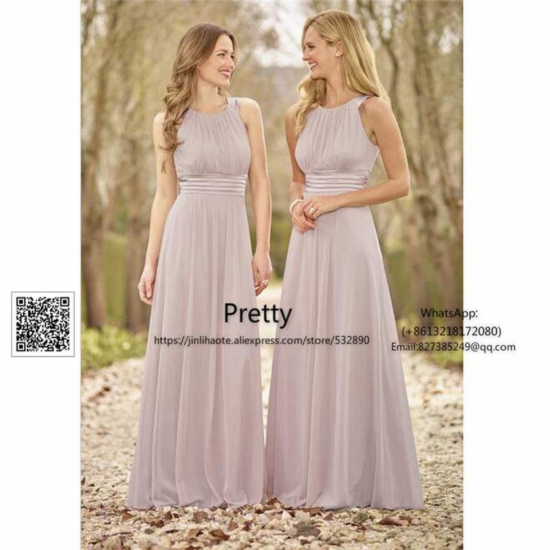 Spring 2017 bridesmaid dresses long with pleat chiffon for Dresses for wedding guests spring 2017