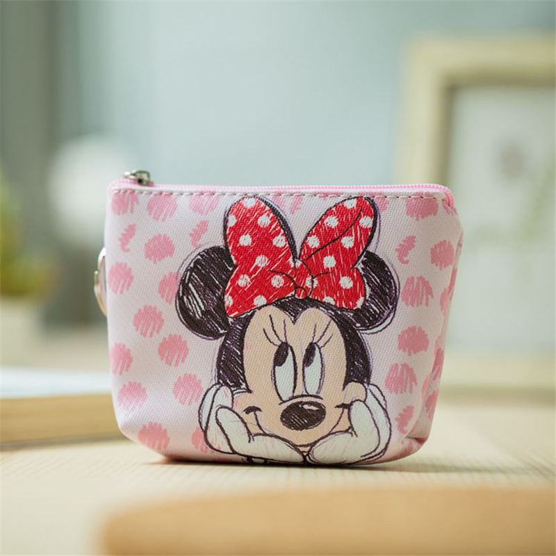 Disney Minnie Children Cartoon Coin Purse Mickey Mouse Coin Bag Girls Gifts Handbag Storage Key Pendant Bag(China)