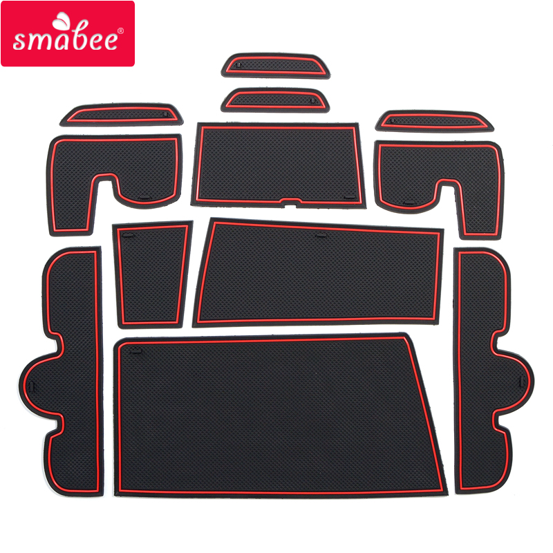 Gate slot mats For suzuki wagon R/STINGRAY 2012-2017 Accessories red/white/black Interior Door Pad/Cup Mat 12PCS 11 11 free shipping adhesive sander back pad sanding machine mat black white for makita 9035