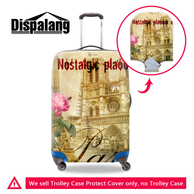 Vintage Luggage Protective Cover For 18-30Inch Trolley Case Elastic Stretch Waterproof Suitcase Protect Cover Travel Accessories