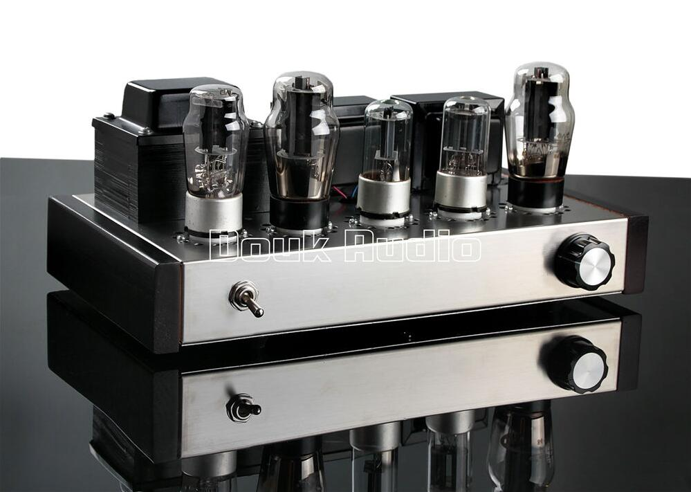 2018 Latest Douk Audio HIFI 6N8P+6P3P Vacuum Tube Amplifier Single-Ended Pure Class A Power Amplifier douk audio pure handmade mini 6p3p vacuum tube amplifier 2 0 channel stereo hifi class a power amp 5w 2