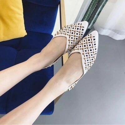 Chaussures De Confortable Respirant Pédale Pointu D'été 1 Fond Mode Ultra Femmes Mou Nouvelles Pois Une mince fwxUvSEn